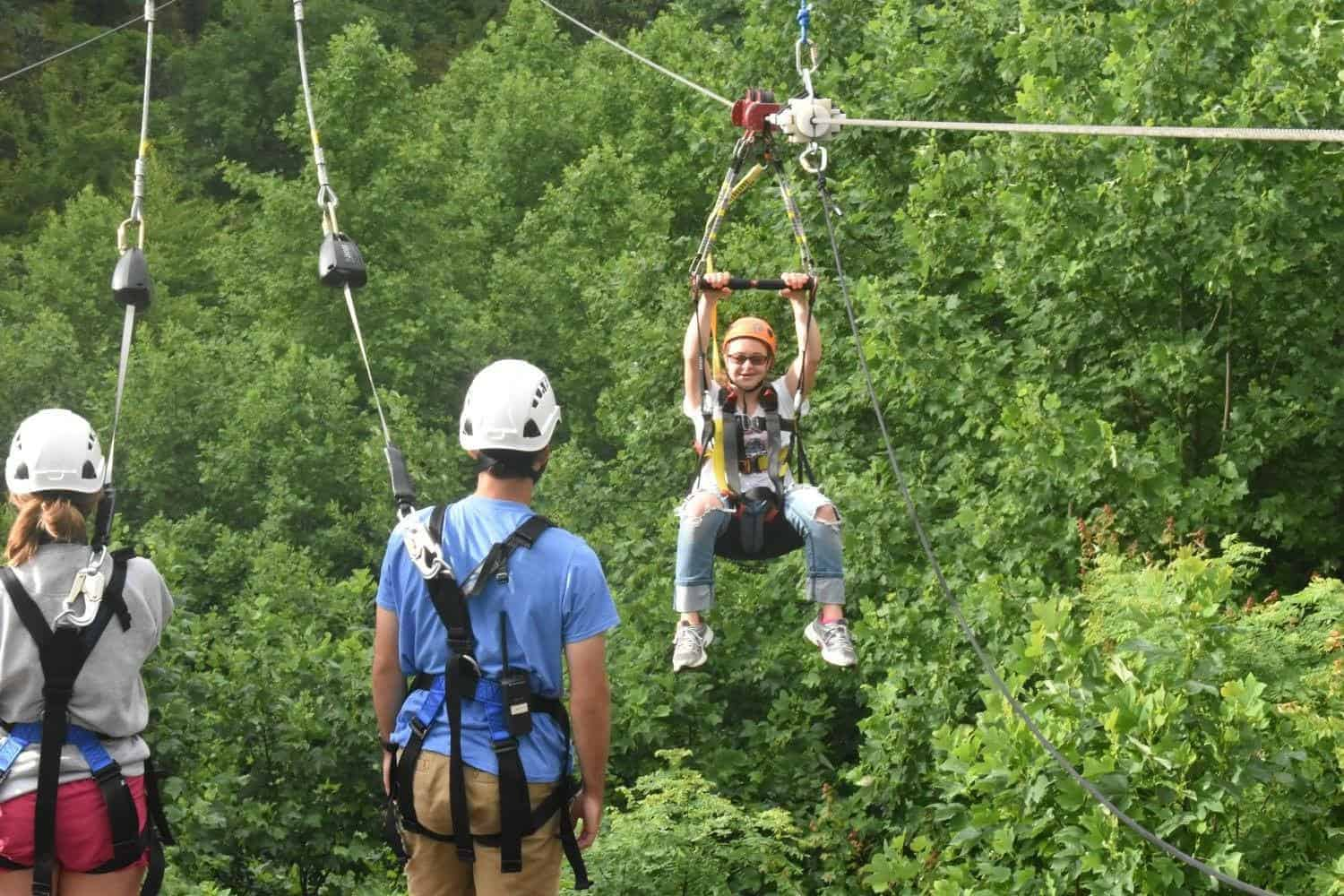 Gabi on Zipline