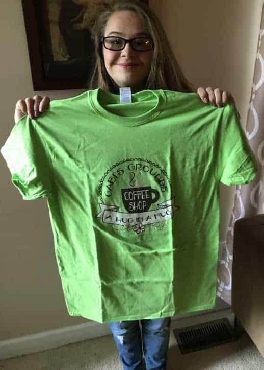 Gabi's Grounds Tee Shirt Green