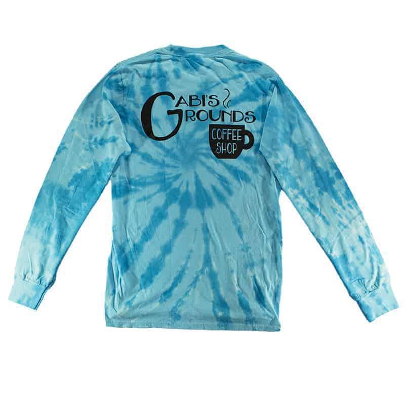Long Sleeve Aqua Shirt Back