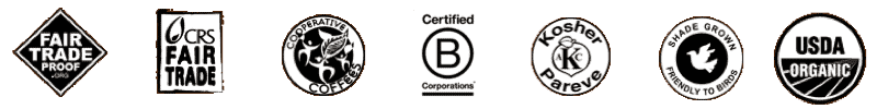 Larry's Coffee Certifications